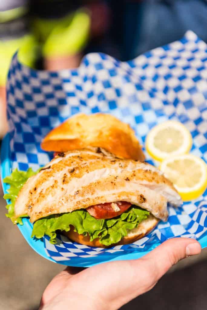 Grouper sandwich at the Fort Myers Beach Shrimp Festival