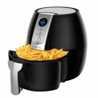 Ultrean Air Fryer, 4.2Qt Electric Hot Air Fryers Oven Oilless Cooker with LCD Digital Screen and Easily Detachable Frying Pot, ETL/UL Certified,1-Year Warranty,1500W