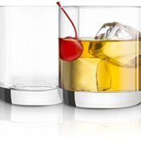 JoyJolt Nova Non-leaded Crystal Old Fashioned Whiskey Glasses