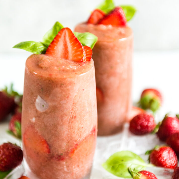 Frozen Strawberry Balsamic Gin and Tonic
