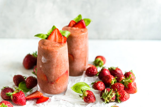 Frozen Strawberry Balsamic Gin and Tonic Recipe