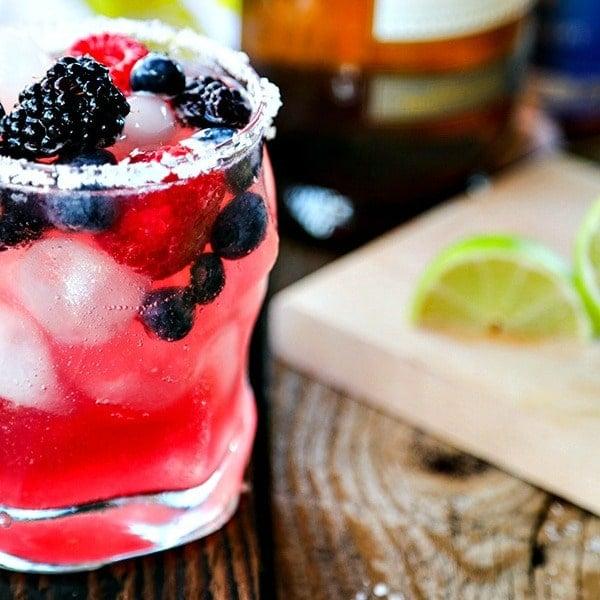 Berry Kombucha Margaritas