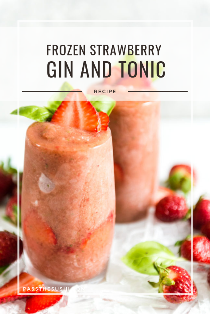 Frozen Strawberry Balsamic Gin and Tonic Cocktail Recipe
