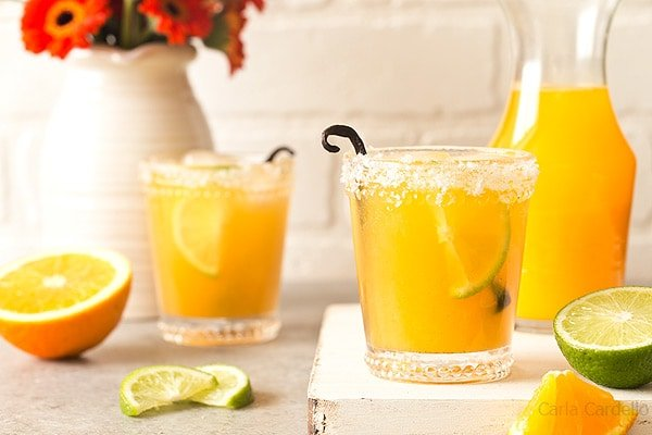 Orange Vanilla Margaritas (Small Batch) - Homemade In The Kitchen