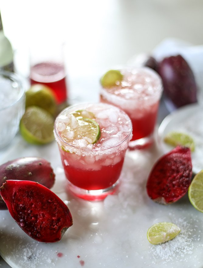 Prickly Pear and Ginger Beer Margaritas.