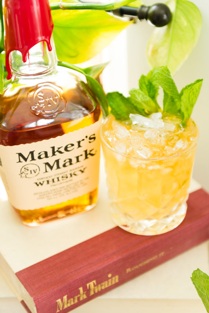Lemon mint julep with maker's mark   Kita Roberts passthesushi.com