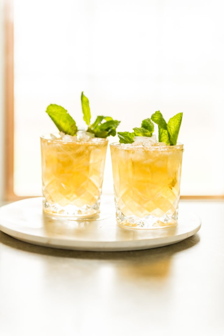 Easy lemon mint julep with homemade mint simple syrup