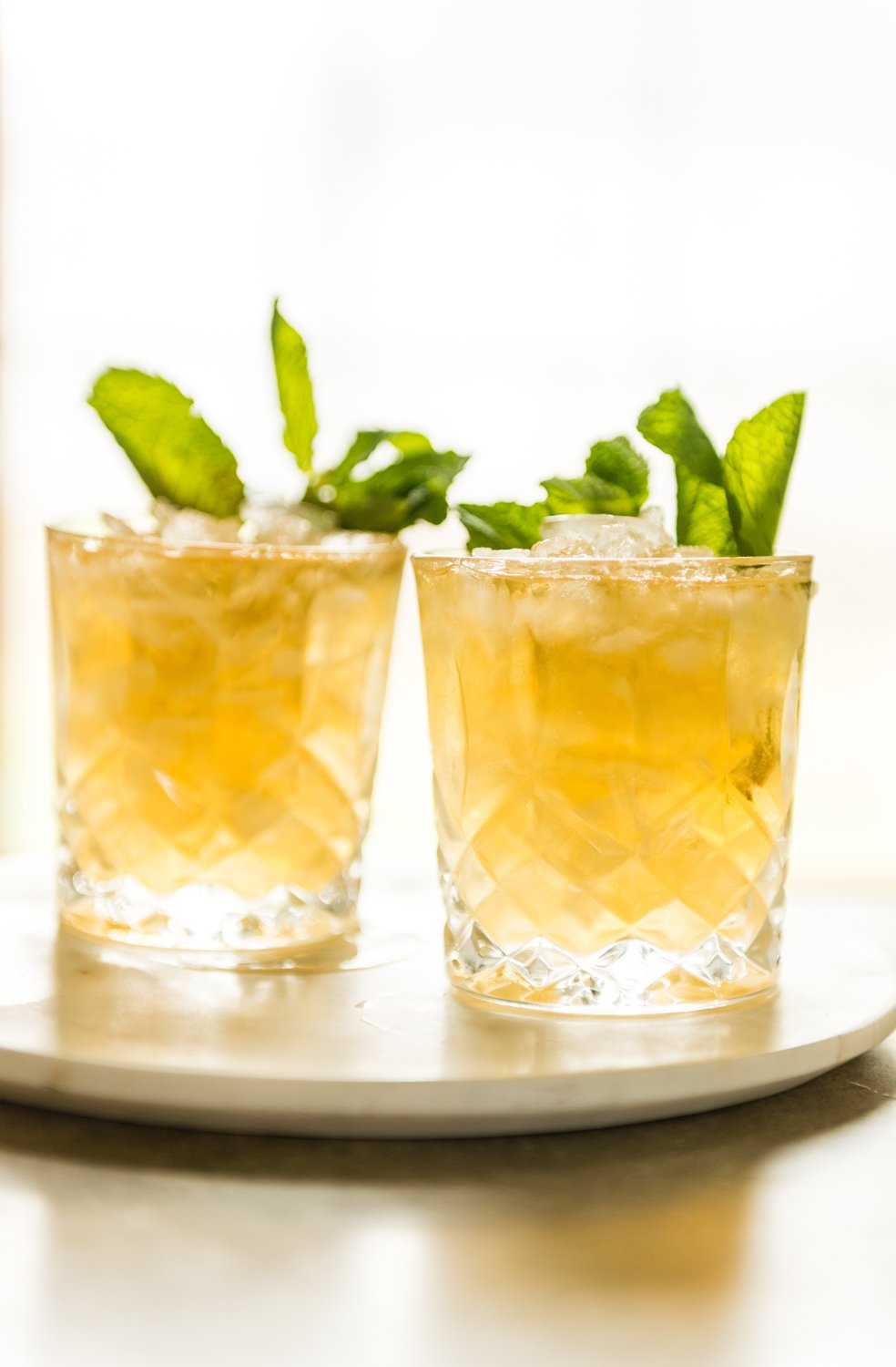 Easy lemon mint julep cocktail recipe