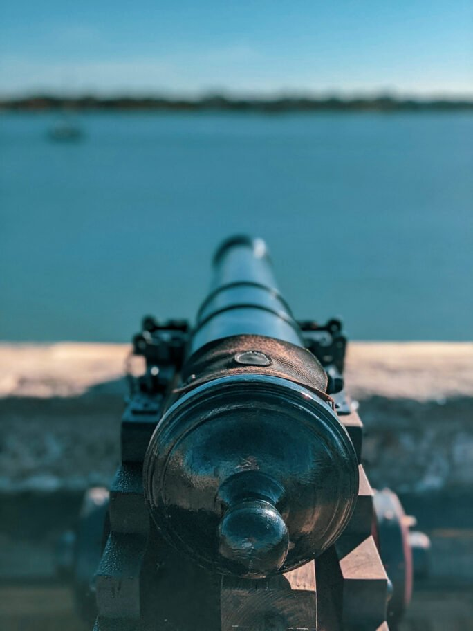 Imagine what it must have been like looking out over the bay while patroling the Castillo de San Marcos!