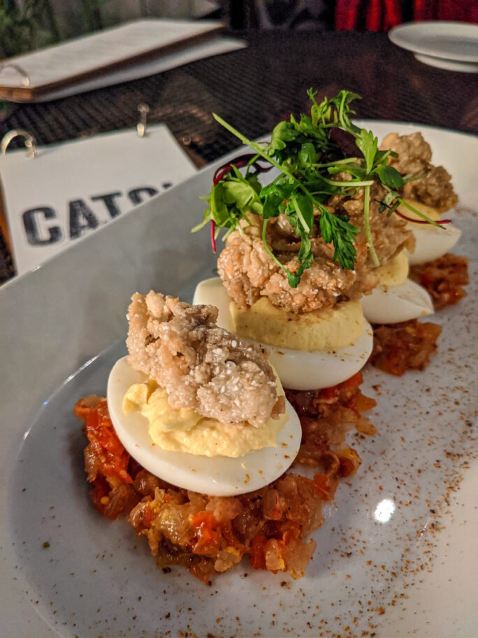 Trust me, try the deviled eggs at Catch 27!