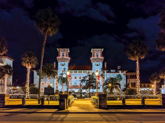 The Lightner Museum looks like it's out of a movie with the beautiful Nights of Lights display in December and January
