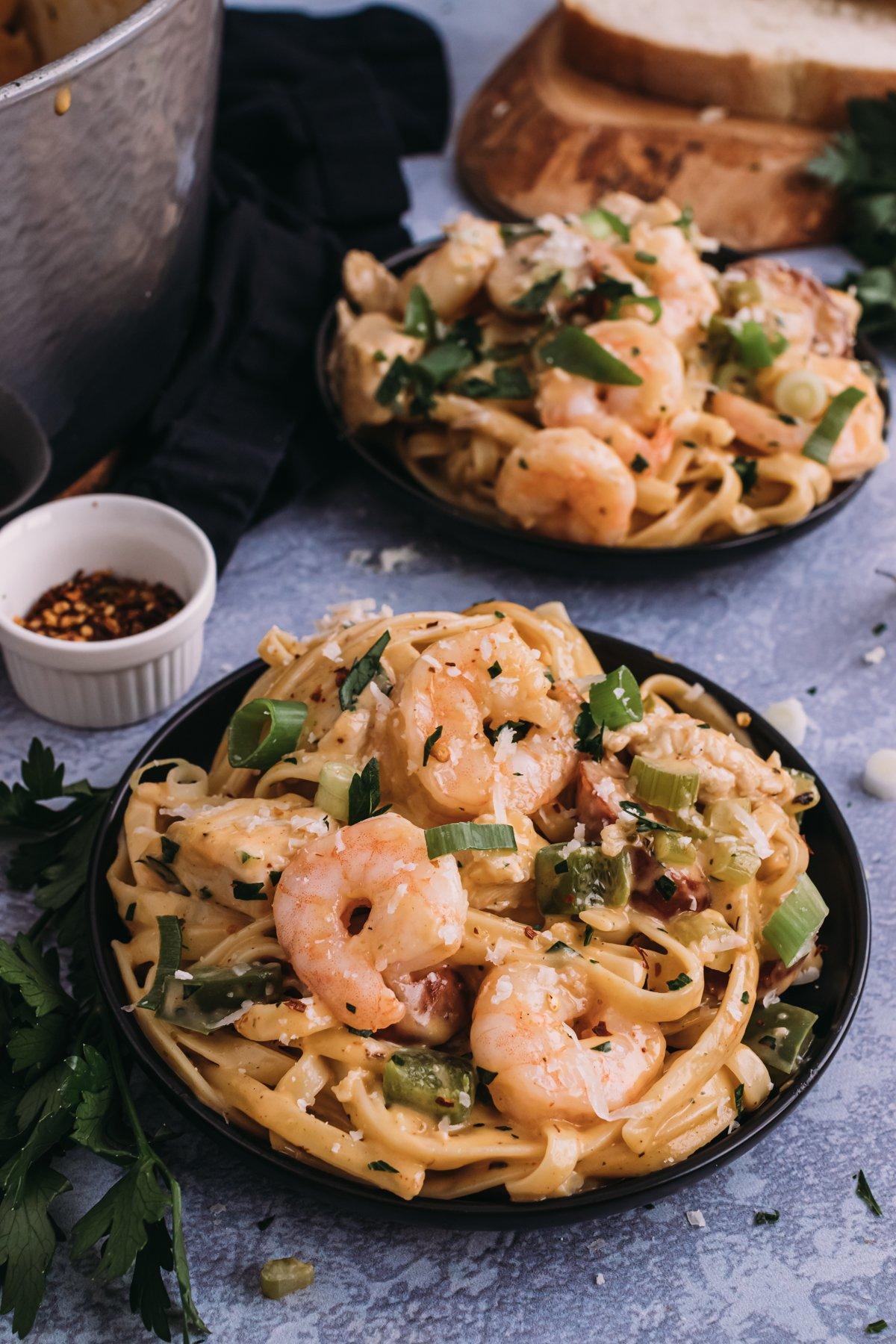 The Best Ever Cajun Chicken Shrimp and Sausage Pasta Recipe | Kita Roberts